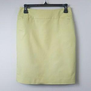 Halogen | Yellow Green Pencil Skirt